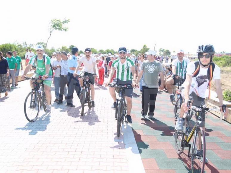 Boğazkent'te Bisiklet ve Yürüyüş Yolu Açıldı
