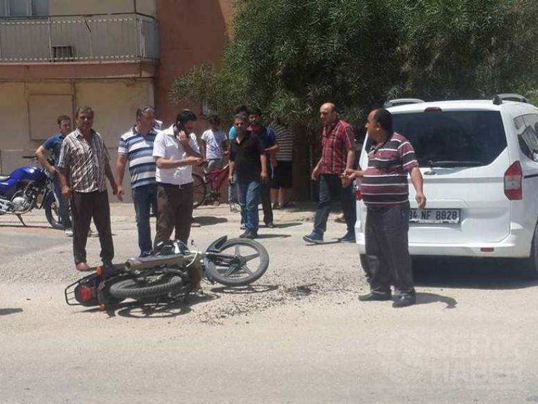 Kaza, Motosiklet Sürücüsü Yaralı