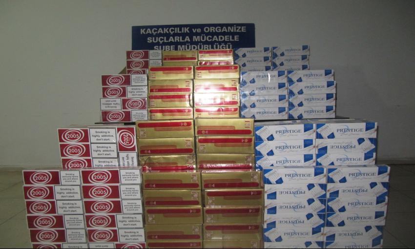 Serik'te Polisten Kaçak Sigara Operasyonu
