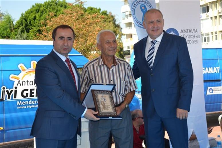 Emin Çopur'a Ahilik Ödülü
