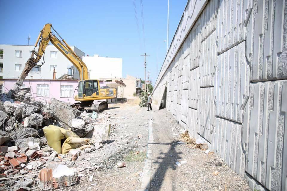 Belek-Otogar Kavşağı yan yol çalışması başladı