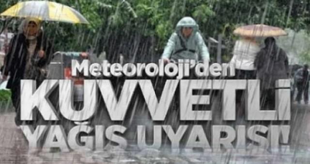 Kuvvetli Yağışlar Pazartesi de Etkili