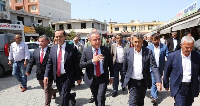 Başkan Böcek'in İlk Resmi Ziyareti Gazipaşa'ya