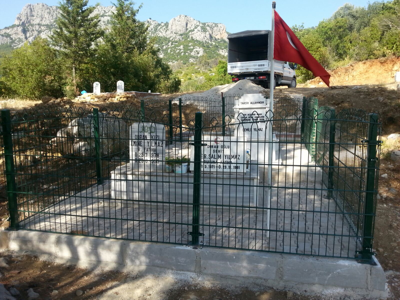 Şehit Salim Yılmaz'ın Mezarlığı Düzenlendi