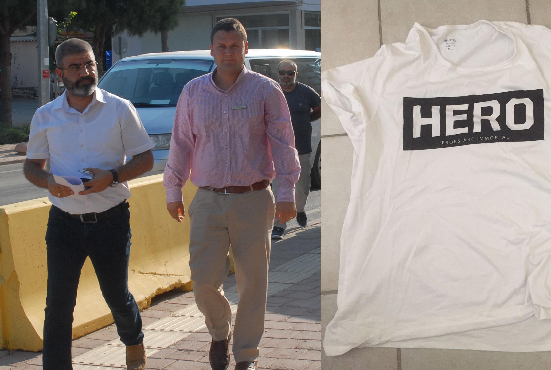 Hero tişörtü giyen garson tutuklandı