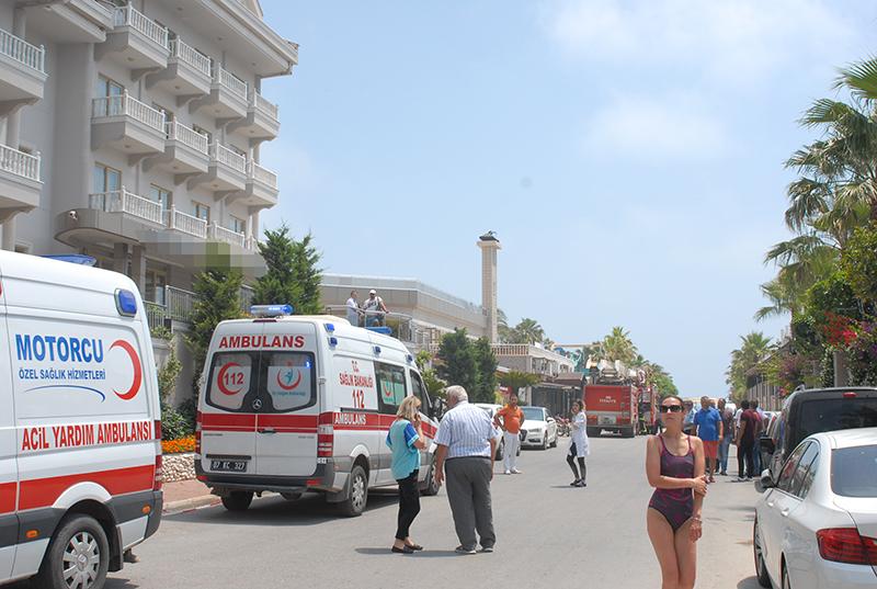 Boğazkent'te Otelde Çıkan Yangın Korkuttu