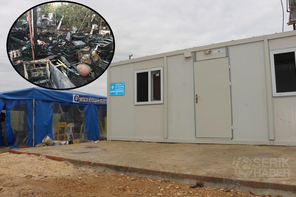 Büğüş'te Evi Yanan Yılmaz Ailesine Büyükşehir Yardımı
