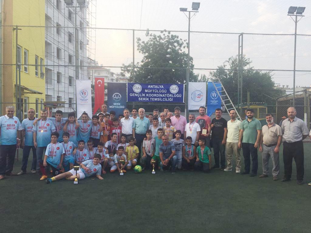 Yaz Kur'an Kursu Futbol Şampiyonu Belek oldu