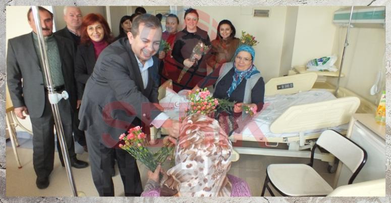 CHP'den Sevgililer Gününde Hastane Ziyareti