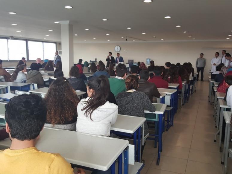 Serik Cenap Düzgün Başarı Temel Lisesi öğrencilerine seminer düzenledi