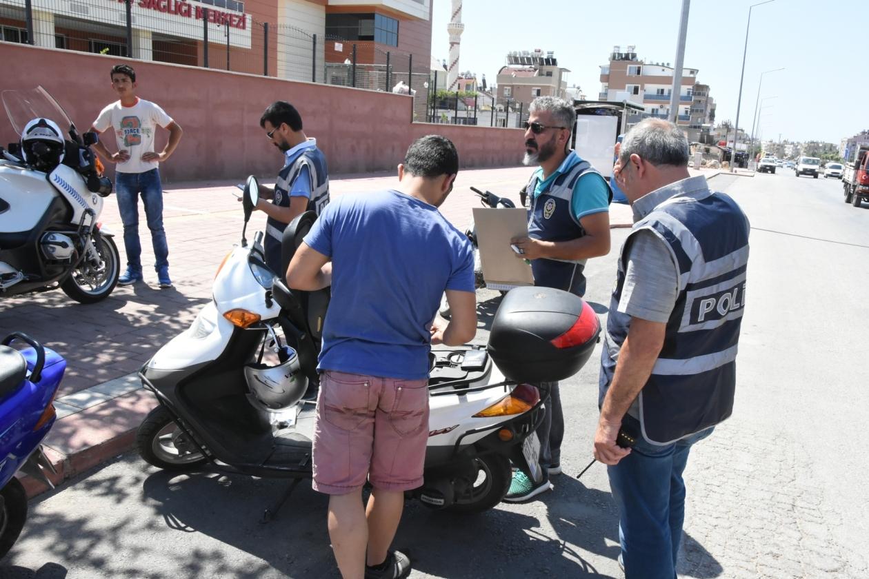 """Polisten """"Motosiklet Denetimi Uygulaması"""" Yapıldı"""