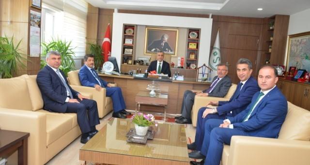 Başkan Aputkan'dan Vali Karaloğlu ve Kurum Ziyaretleri