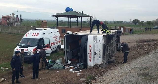Serikli Öğrencileri Taşıyan Otobüs Kaza Yaptı