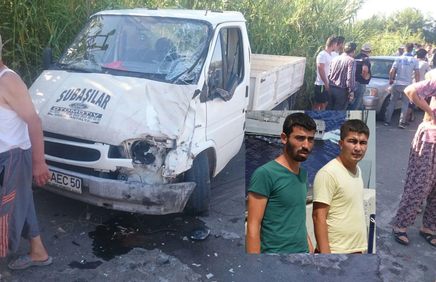 Serik'te Trafik Kazası : 2 Ölü