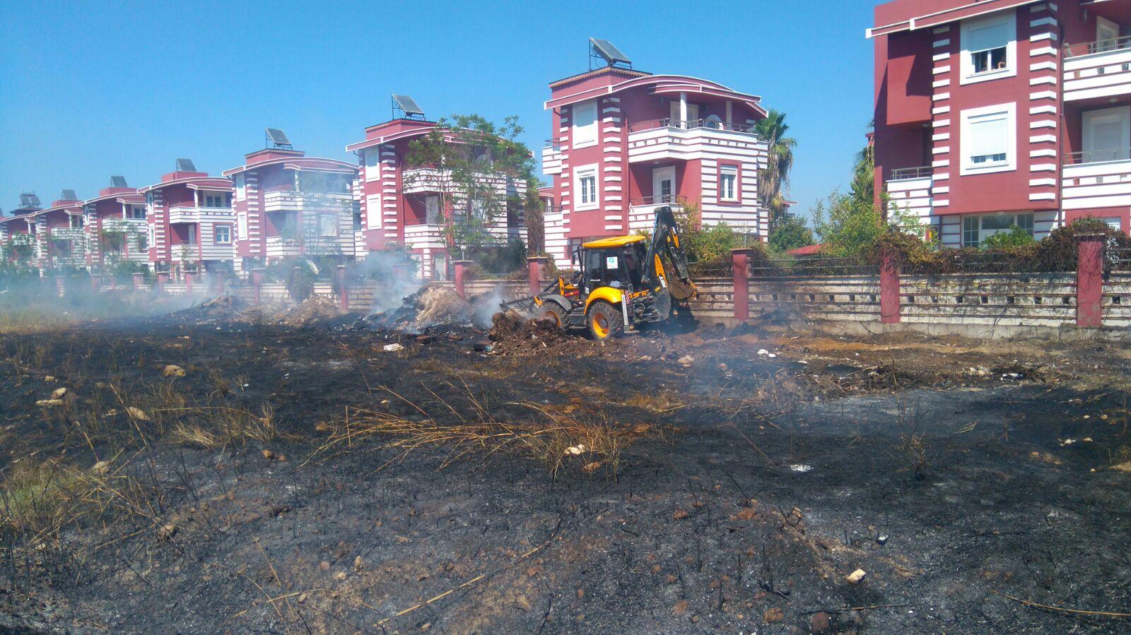 Kadriye'de Çıkan yangında büyük facia önlendi