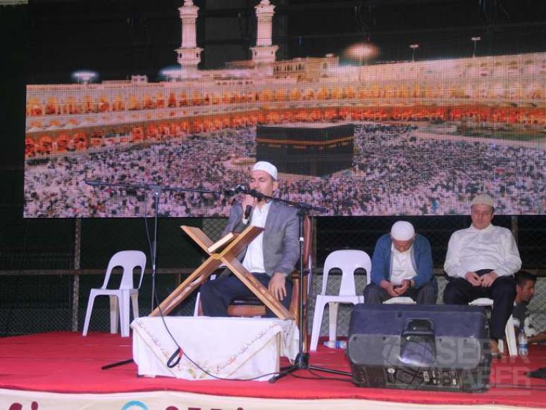 Serik'te Kadir Gecesi stadyumda dualarla kutlandı