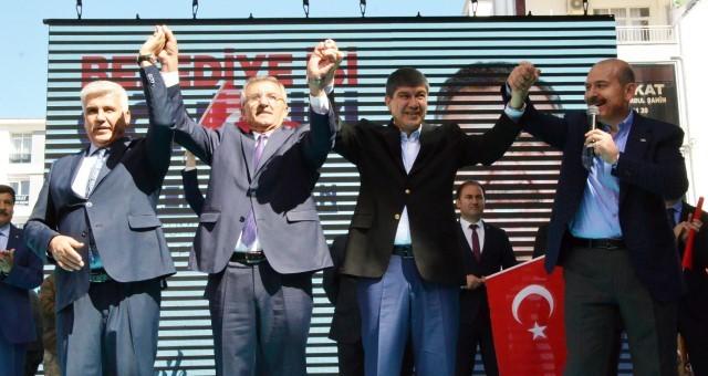 İçişleri Bakanı Süleyman Soylu Serik'te
