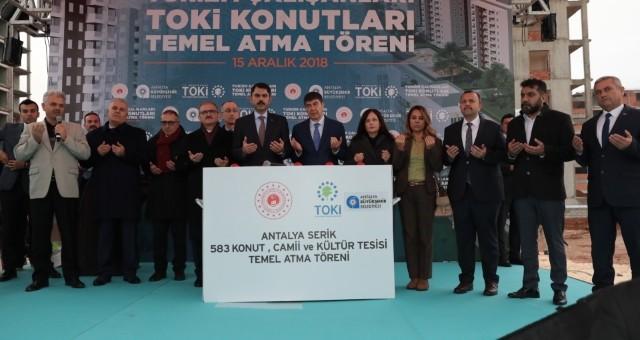 Serik'te Turizm Çalışanları Toplu Konutlarının Temeli Atıldı
