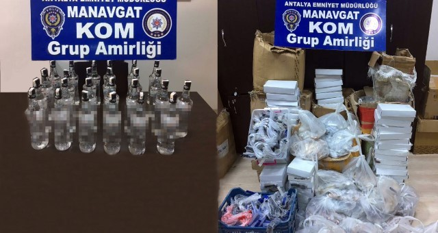 Manavgat'ta Kaçakçılık Operasyonu