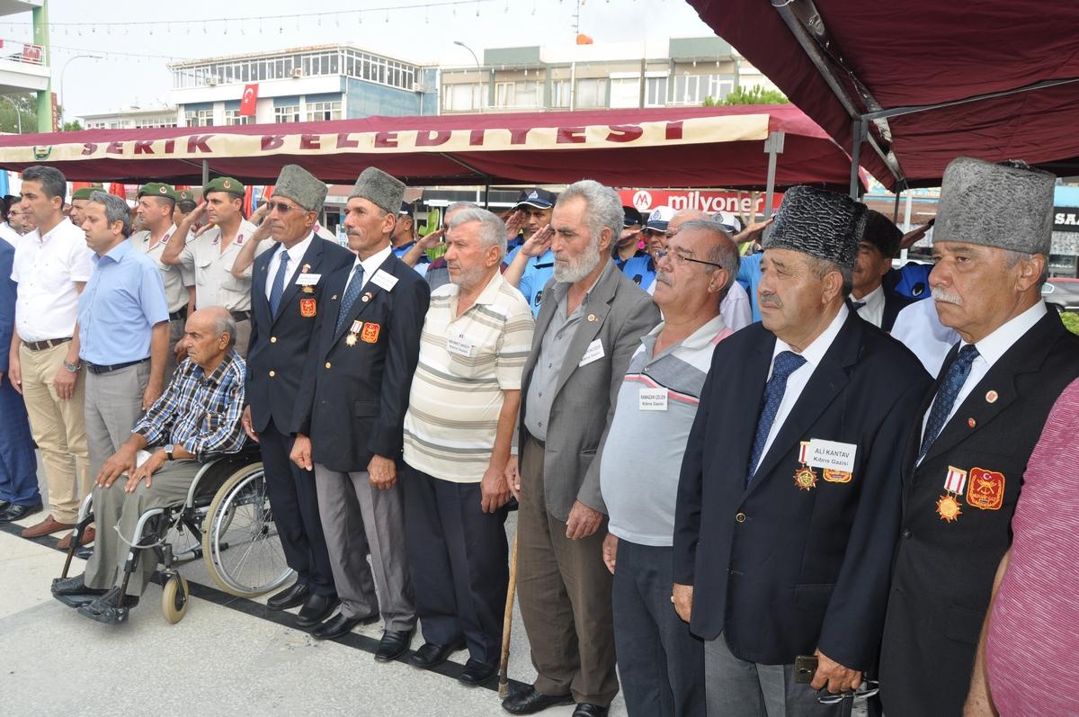Serik'te 19 Eylül Gaziler Günü Kutlandı
