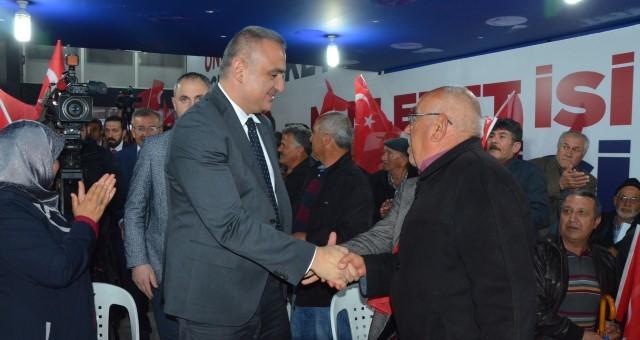 Kültür ve Turizm Bakanı Ersoy, Serik'i Ziyaret Etti