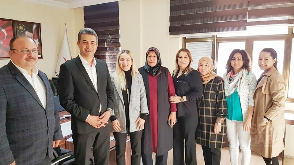 Ak Parti İl Kadın Kolları Başkanı Tülay Beşkonak Özçay Serik Ziyareti