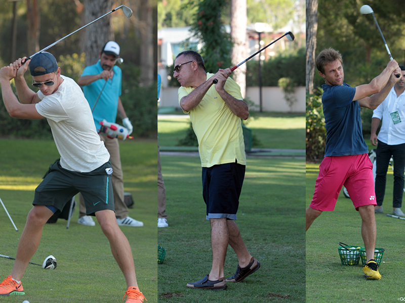 Ünlü Tenisçiler Golf'te de iddialı
