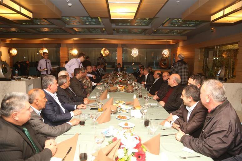 Başkanlar Serik İçin Yemekte Buluştu