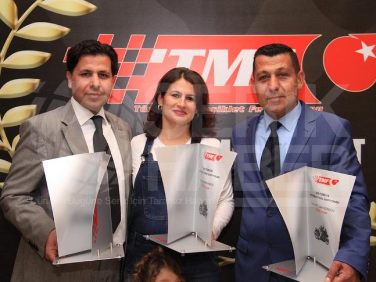 Serikli Motosiklet Yarışçıları Ödüllerini Aldı