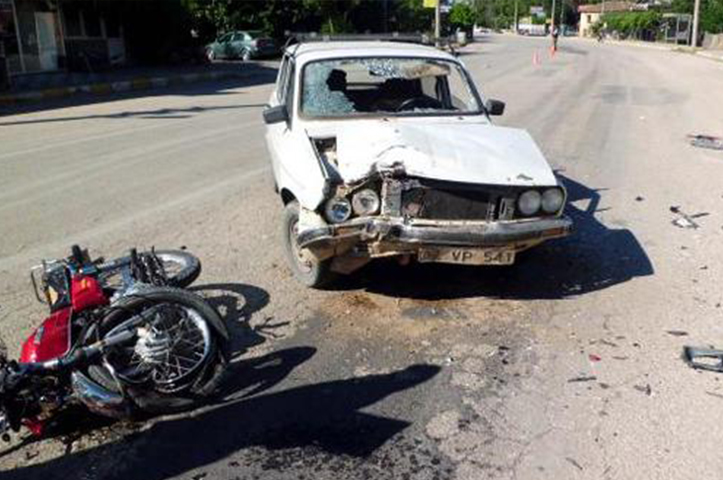 Serik'te Trafik Kazası : 1 Yaralı